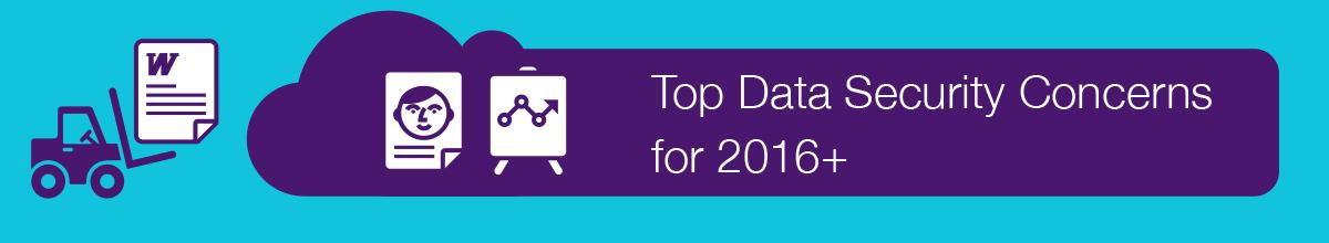 Las principales preocupaciones en seguridad de datos para 2016